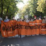 20.9.20 Seebrücke Demo München (Foto: Anne Wild)